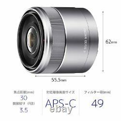 Sony Objectif Macro À Mise Au Point Unique E 30mm F3.5 Macro Sel30m35 Japon Nouveau Avectracking