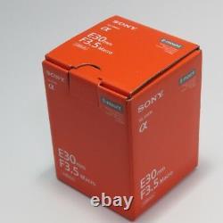 Sony Sel30m35 E 30mm F3.5 Macro Lens Pour Monture E Avec Suivi Nouveau