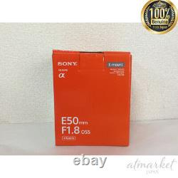 Sony Sel50f18-b Objectif De Mise Au Point Unique E 50mm F1.8 Oss Aps-c Format De Japan Ems