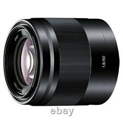 Sony Single Focus Lens E 50mm F1.8 Oss Aps-c Format Sel50f18-b Expédition Rapide