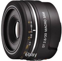 Sony Single Focus Macro Lens Dt 30 MM F 2.8 Macro Sam Aps-c Compatible Noir
