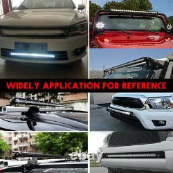 Ultra Slim 4d Lens Single Row Led Work Light Bar Spot Driving Car Truck Atv Suv