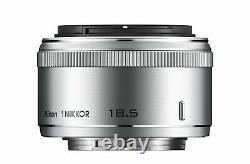 Utilisé 1 Nikkor 18,5mm F / 1.8 Argent Nikon Format CX Seulement Objectif De Focale Unique F/s