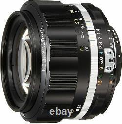 Voightlander Objectif De Mise Au Point Unique Nokton 58mm F1.4 Sliis Ai-s Nikon Fmount