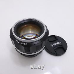 Voigtlander 2016 Nokton 58mm F1.4 Sl II Ai-s Argent Rim Pour Nikon F Mont Nib