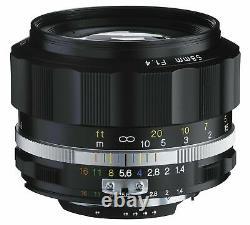 Voigtlander 2016 Nokton 58mm F1.4 Sl II Ai-s Rim Noir Pour Nikon F Mont Nib